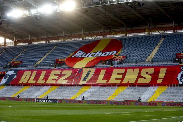 Image d'illustration du stade Bollaert-Delelis vide, le 7 mai dernier lors du derby face au LOSC.