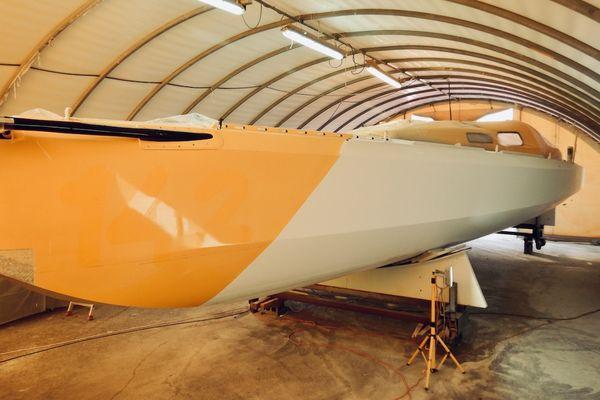 le nouveau nez du bateau de Kito de Pavant