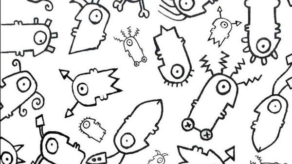 Une des oeuvres, inspirée du coronavirus, créée par l'artiste Antony Bruno