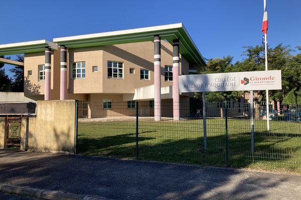 le collège Alinéor d'Aquitaine à Martignas-sur-Jalle où a eu lieu l'intoxication mercredi 13 octobre