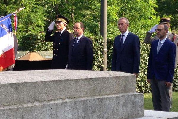François Hollande à Tulle le 9 juin 2015