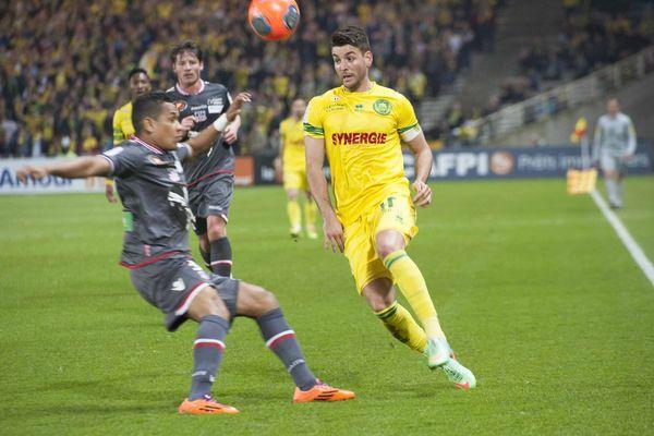 Nantes-Ajaccio 2-2, c'est Ajaccio qui égalise à la 93ème minute, le 8 mars 2014 à la Beaujoire