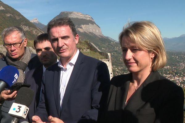 La ministre de la Transition écologique était en déplacement à Grenoble, capitale verte 2022, le 18 octobre 2021.