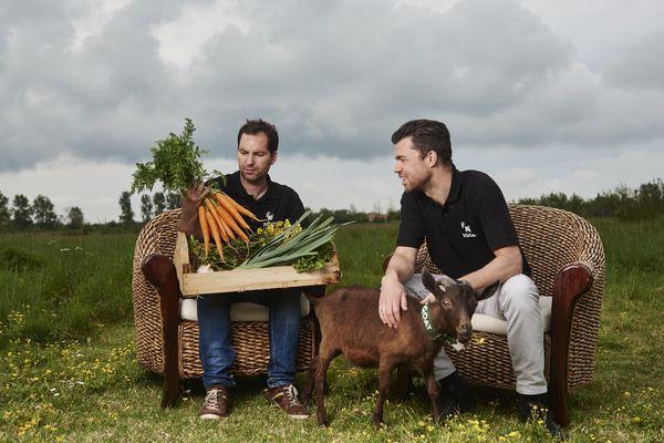 """Reynald Naulleau et Nicholas Hoddevik, co-fondateurs de la start-up """"Vite mon marché"""""""