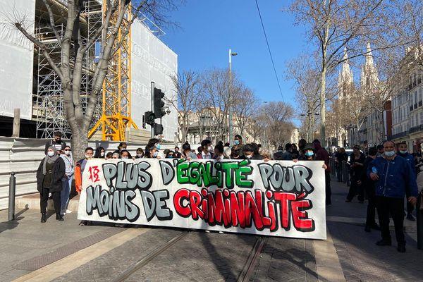 Pour dénoncer la criminalité liée aux règlements de comptes, une marche blanche avait lieu aujourd'hui à Marseille, à l'appel de l'association Conscience.