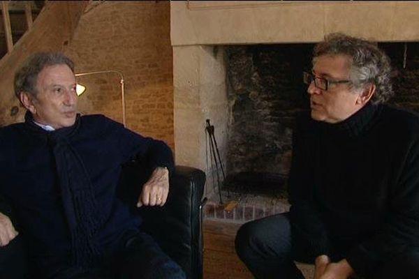 Michel Onfray invitait, samedi 28 mars, l'animateur télé Michel Drucker à la 9éme édition de l'université populaire du goût de Chambois ( 61)