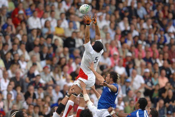 Grande-Bretagne-Samoa lors de la coupe du monde de rugby à La Beaujoire de Nantes en septembre 2007