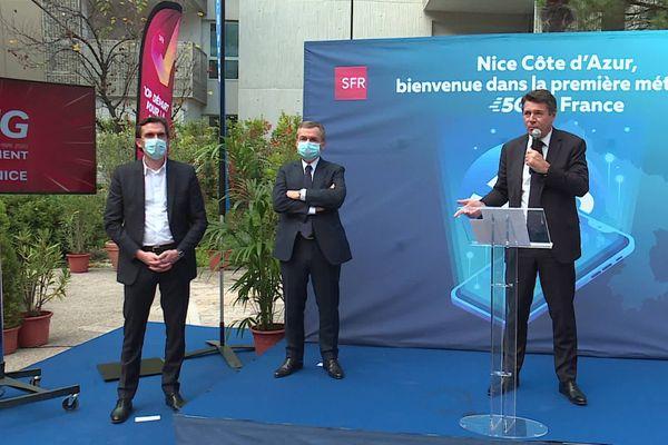 Christian Estrosi a dévoilé ce vendredi midi le lancement de la 5G sur la métropole de Nice.