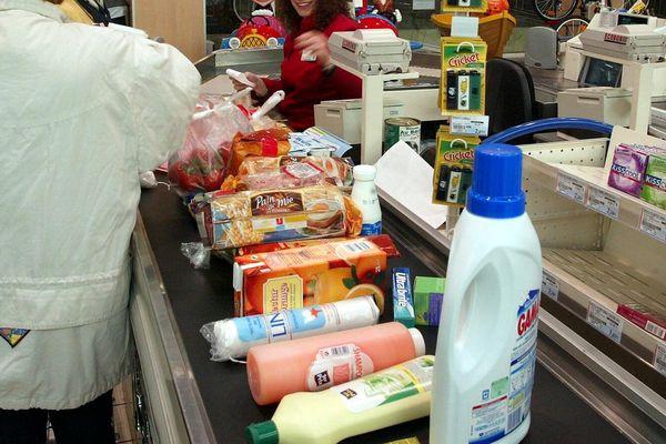 Un supermarché à Bastia.