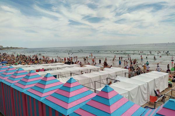 La grande plage de Sables d'Olonne, juillet 2021
