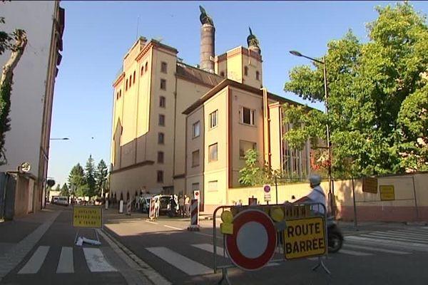 Le quartier des brasseurs à Schiltigheim est souvent le site d'effondrement de chaussées, ici en Août 2016