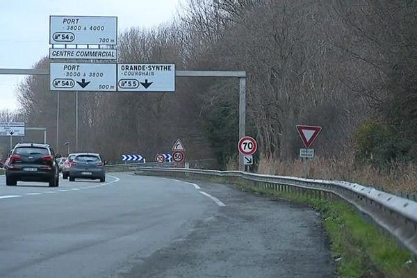L'autoroute A16.