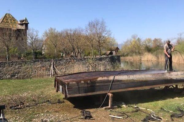 Entretien des barques