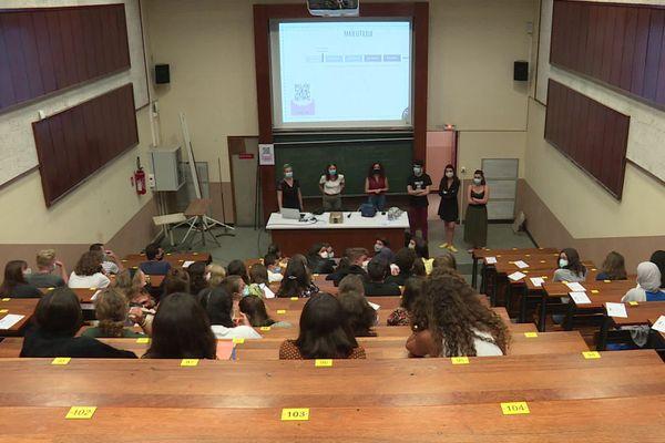 Découverte de l'Université de Nantes pour les étudiants en première année de médecine, le 26 août 2020