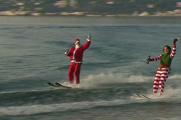 Le père Noël est passé en avance à Antibes Juan-les-Pins...