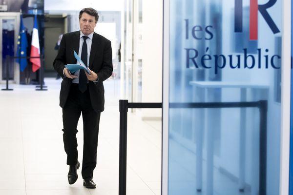 Image d'illustration: Christian Estrosi au siège du parti Les Républicains