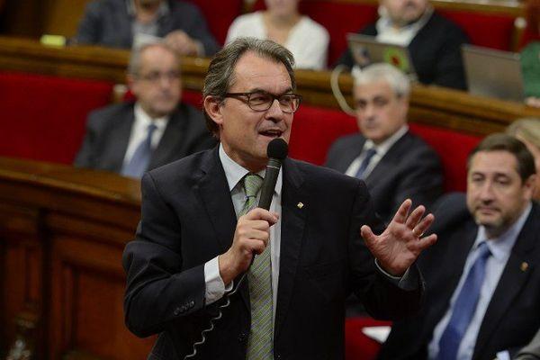 Le président de la Catalogne Artur Mas a signé un décret prévoyant l'organisation d'un référendum. Barcelone octobre 2014.