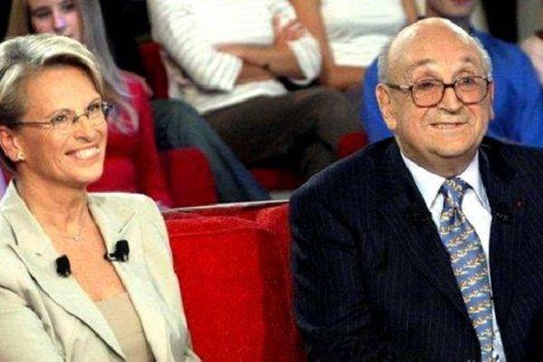 Bernard Marie en compagnie de sa fille Michèle Alliot-Marie