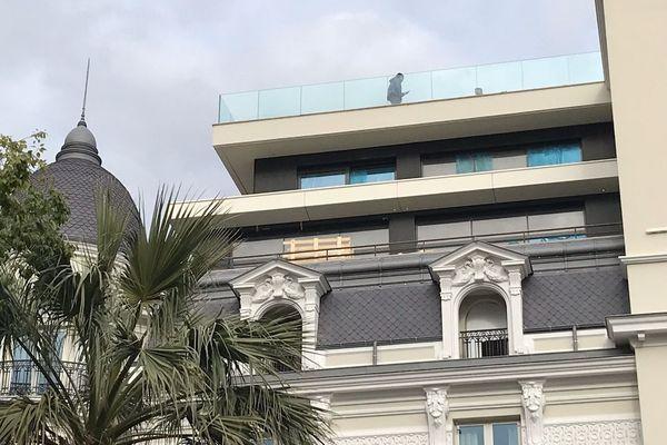 Dernier étage de l'Hôtel de Paris où un feu s'est déclaré le 31 janvier en fin de matinée