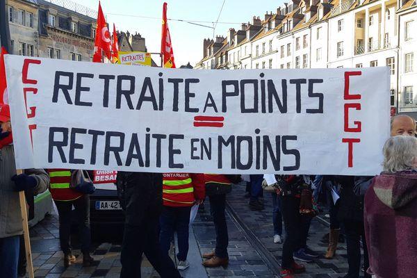 Le 5 décembre 2019, à Besançon, une première manifestation avait réuni les opposants à la réforme des retraites.