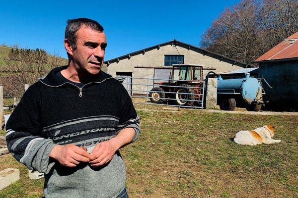 Sébastien Persec Co-porte-Parole de la Confédération Paysanne de l'Aveyron