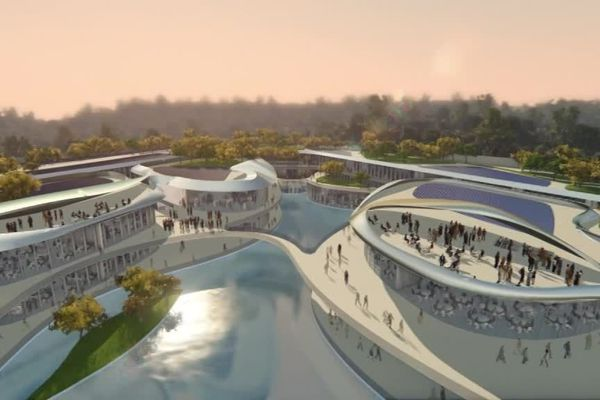 Illustration du projet Open Sky à Sophia Antipolis.