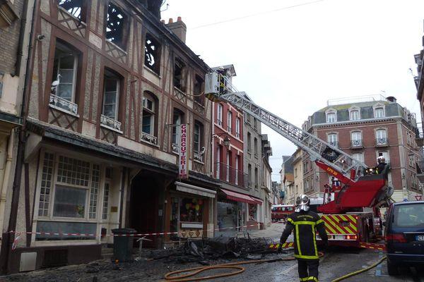 L'incendie s'était déclaré rue de la Commune-de-Paris au Tréport (Seine-Maritime), dans la nuit du 11 au 12 octobre 2018.