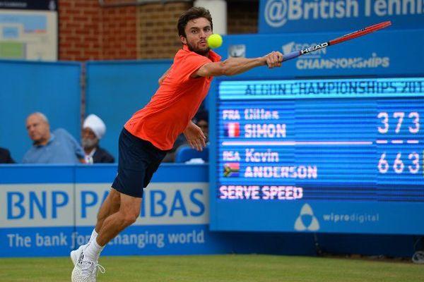 Gilles Simon, 13e joueur mondial, a été éliminé en demi-finale du tournoi sur gazon du Queen's .