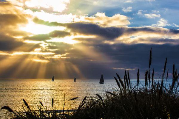 Coucher de soleil sur le littoral breton...