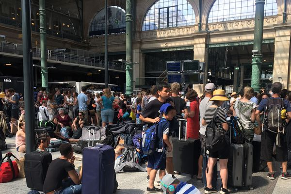 En gare du Nord à Paris ce vendredi matin