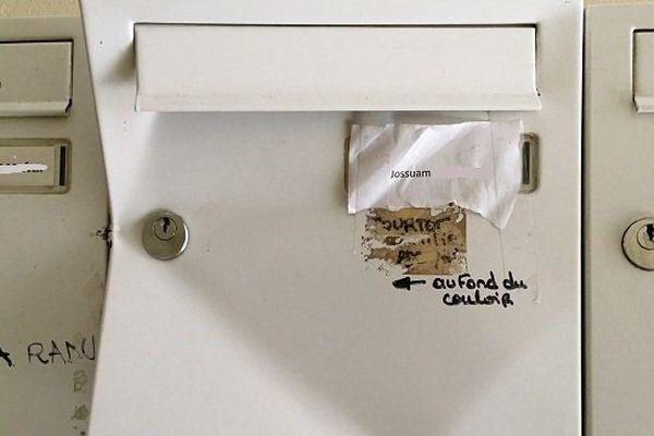 La boite aux lettres du suspect