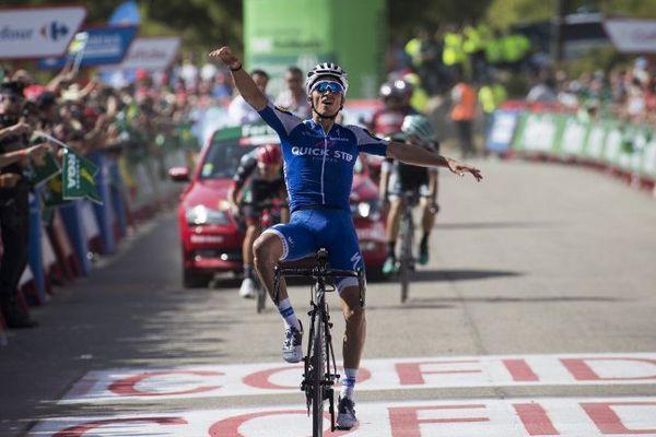 Le Français Julian Alaphilippe (Quick-step) originaire de Montluçon décroche sa première victoire d'étape (la 8e).