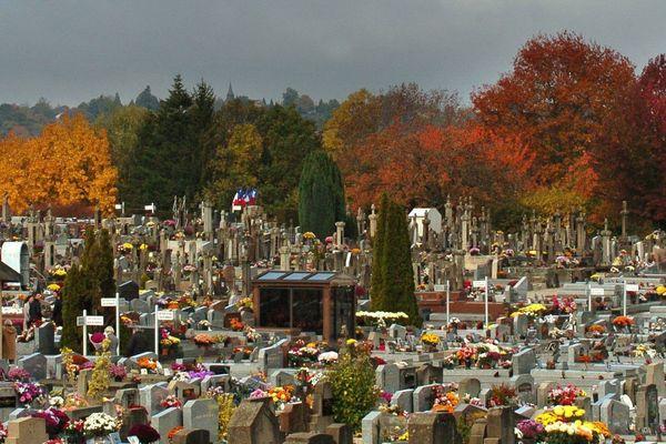 Le temps des chrysanthèmes au cimetière de Louyat à Limoges