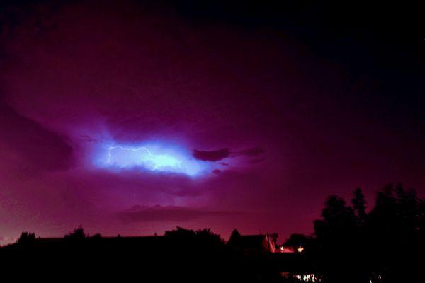 Un orage au-dessus de Nantes le 12 août 2020