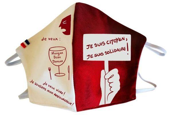 Masque solidaire pour les restaurants créé par Erwann