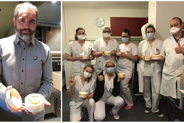 Le chef étoilé Christophe Aribert a préparé 45 plats pour les soignants du CHU Grenoble-Alpes, en première ligne dans la lutte contre le coronavirus.