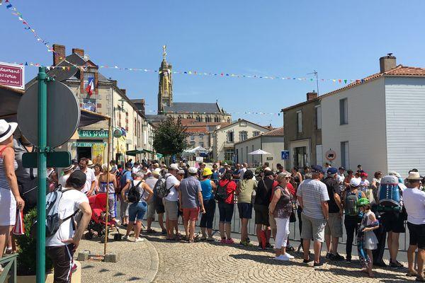 Le passage du Tour de France à Sèvremont (Vendée) lors de la deuxième étape du tour de France 2018