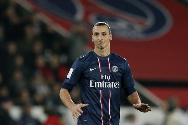 Zlatan Ibrahimovic lors de la rencontre  PSG -Ajaccio du 11 janvier 2013.