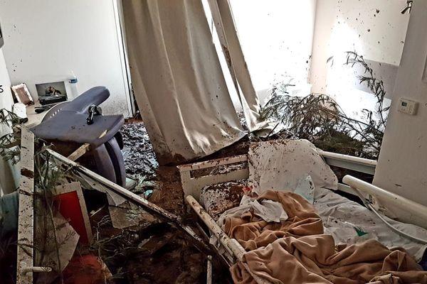 Pégomas : chambre d'un Epadh dévastée par une coulée de boue, le 1er décembre 2019