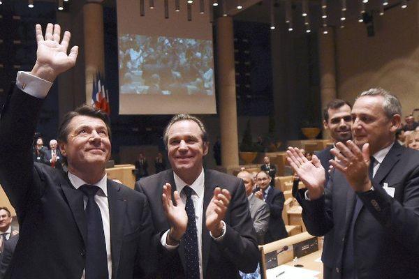 Le nouveau président Christian Estrosi et Renaud Muselier.
