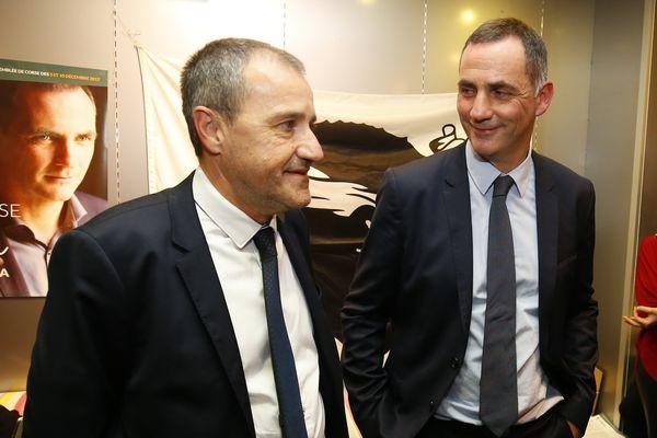 03/12/2017 - La coalition nationaliste sortante de Gilles Simeoni et Jean-Guy Talamoni est arrivé dimanche en tête du premier tour des élections territoriales en Corse.