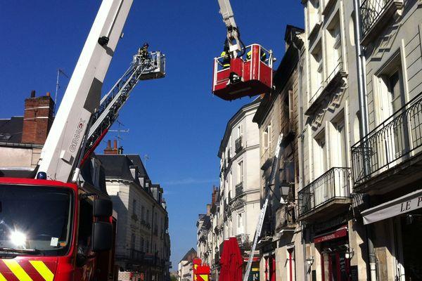 L'incendie s'est déroulé dans le centre-ville de Tours.
