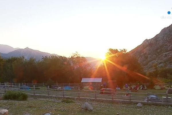 Chaque été, famille Franchi transhume brebis et chèvres jusqu'aux bergeries de l'Onda, sur le Monte d'Oru.