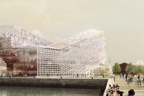 Le bâtiment futuriste de la Métropole Rouen Normandie se situera sur les quais rive gauche