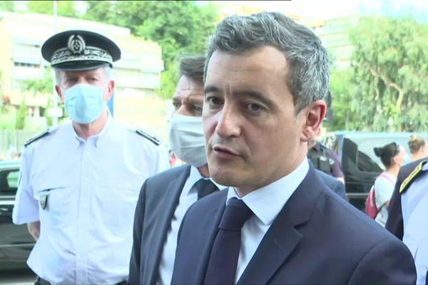 Gérald Darmanin, à Nice, le jeudi 23 juillet