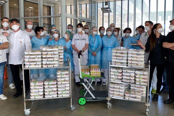 Les restaurateurs ont distribué 500 repas, notamment aux soignants de l'Hôpital Nord Franche-Comté