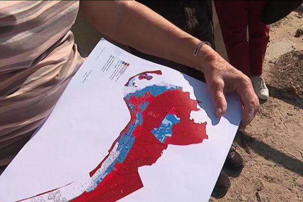Les zones rouges et bleues sur PPRI à Noirmoutier en Vendée