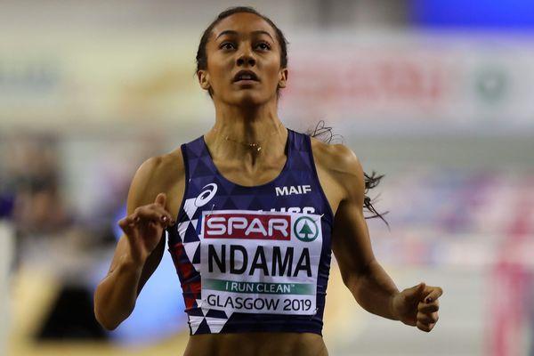 Solène Ndama lors des championnats d'Europe de Glasgow