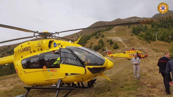 Les secours italiens se sont rendus sur place, seul le pilote de l'appareil a été blessé.