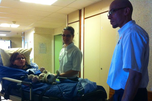 Le déménagement du service de chirurgie pédiatrique, à l'hôpital d'Orléans.